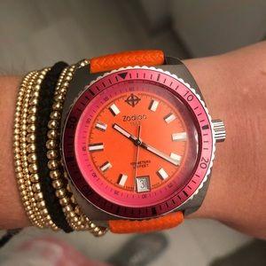 Zodiac Orange and Pink Seadragon Watch